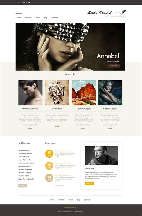 Top 15 Personal Profile Wordpress Themes Wp Daily Themes Best Website Templates For Writers