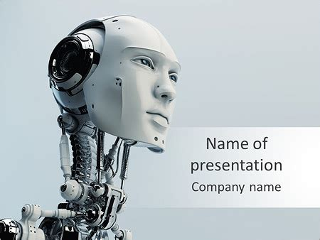 templates for robotics ppt robot powerpoint template backgrounds id 0000005539