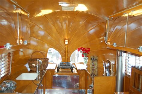 Retro Kitchen Cabinets For Sale vintage airstream trailer interiors from oldtrailer com