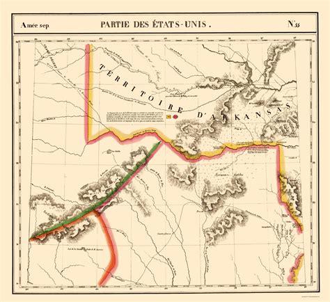 texas arkansas map state maps texas and arkansas territory tx ar ok by vandermaelen 1827