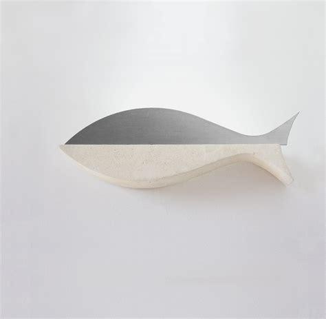applique acciaio applique acciaio pesce pietra leccese shop