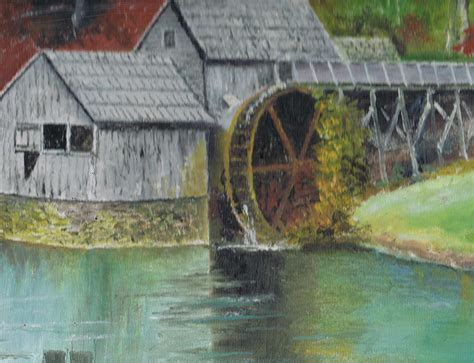 mabry mill in virginia usa close up view of painting by