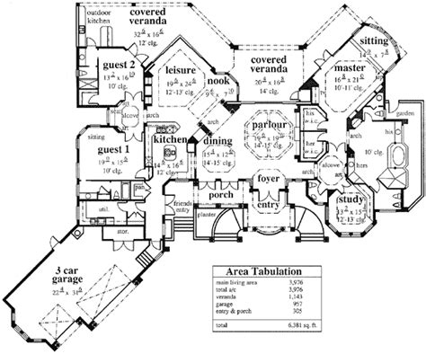 mediterranean villa house plans architectural designs