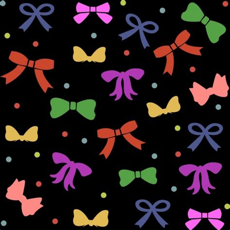 colorful bows colorful bows background repeating flat style free vector