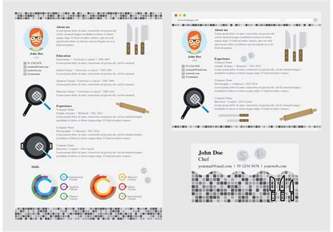 vector curriculum vitae chef free vector stock graphics images