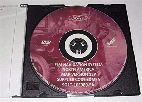 america map dvd version 13p update for ford lincoln mercury navigation system