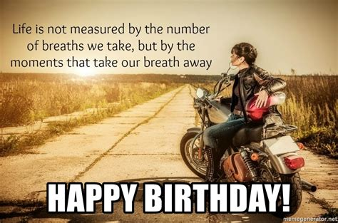 Birthday Meme Generator - biker birthday meme birthday best of the funny meme