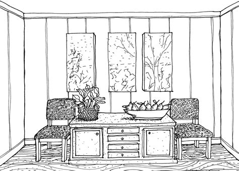 draw a room online two point perspective drawing interior google search