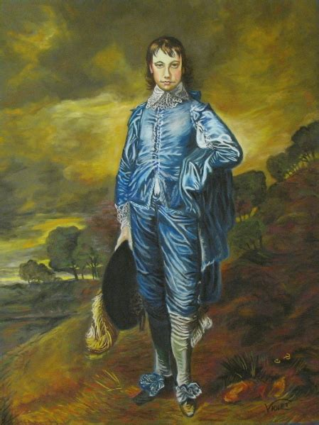 Boy Blue blue boy after gainsborough wetcanvas