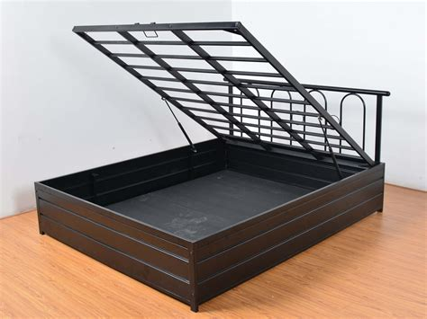 hydraulic bed frame spectrum hydraulic storage iron frame queen bed by