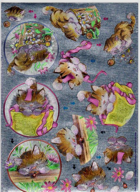 dufex decoupage dufex decoupage metallic kitten virgo craftsvirgo crafts