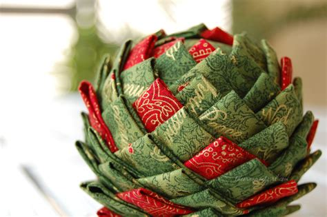 Quilted Ornament Pattern by Pinecone Ornament Pattern Folded Fabric Pine Cone