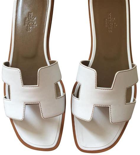 New Sandal Wanita Sendal Wanita Flat Replika Hermess Hitam Promo Pria herm 232 s white oran sandals in flats size us 7 5 regular m b tradesy