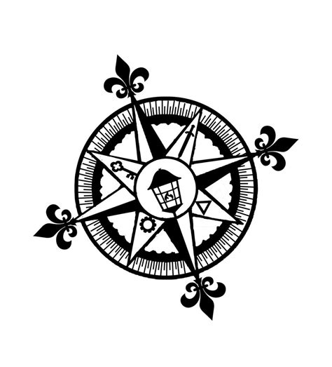 daniel compass 1 tattoo design by jenesee on deviantart
