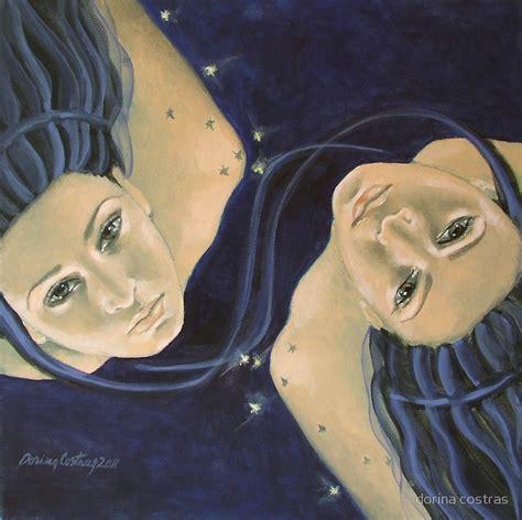 Canvas Decor Gemini Zodiac quot quot gemini quot from quot zodiac signs quot series quot by dorina costras redbubble