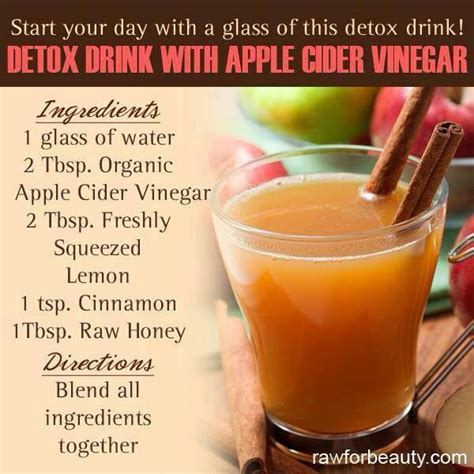 What Can I Drink To Detox My by Apple Cider Vinegar Detox Drink Health Fitness