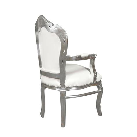 silver armchair baroque armchair white and silver bronze statue