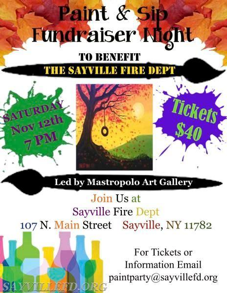paint nite boston fundraiser paint at the sayville department sayville