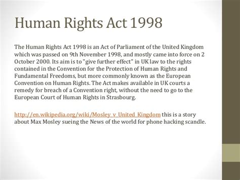 section 3 of the human rights act legal constraints in media