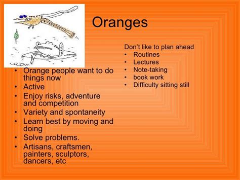 types of orange color 25 best ideas about true colors personality test on pinterest
