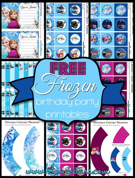 printable party decorations frozen free frozen birthday party printables