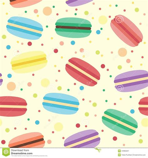 cute macaron pattern seamless pattern with macarons stock vector illustration