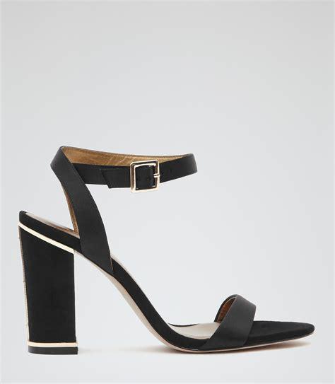 black block sandals chacha black block heel sandals reiss
