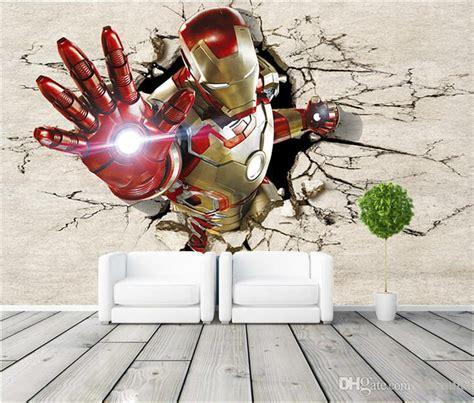 cool wallpaper murals 3d view iron man wallpaper giant wall murals cool photo