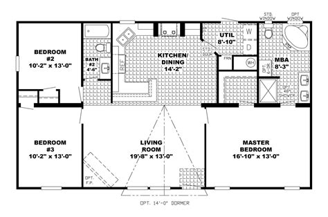 Open Floor Plans With Basement Ranch Home Floor Plans Open Floor Plans Ranch House Ranch House Plans Open Floor Plan Jpg
