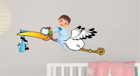 Aufkleber Baby Fussball by Baby Storch Aufkleber Junge Blaue Windel Fu 223
