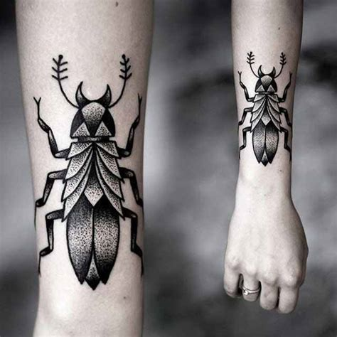 insect tattoos insect in black by kamil czapiga design of