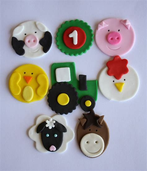 Cupcake Topper Farmer Animal farm animal cupcake topper variety two dozen tutorials look at farms and