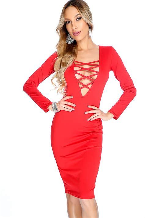 Dress Shanshan Square Vd sleeve lace up front midi dress
