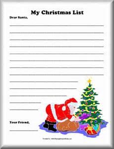 Santa christmas list for kids pages printable myideasbedroom com