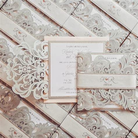 laser printed wedding invitations silver laser cut wedding invitation bespoke chic laser cut custom wedding invites