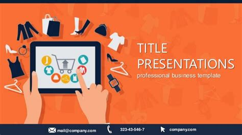 e shopping template shopping powerpoint template