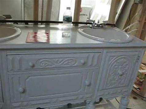 Antique sideboard turned into bathroom vanity 8th vid youtube