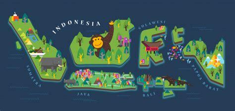 indonesia good design selection indonesia tourism map vector premium download