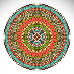 coloured mandala design vector free download