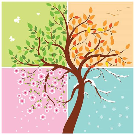 seasons clipart royalty free four seasons clip vector images