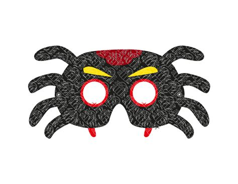 printable spider mask template spider paper mask printable pdf pukaca