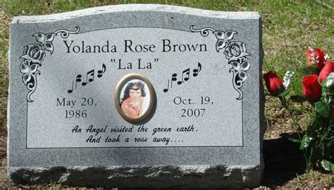 Lala Brown yolanda fay quot lala quot brown 1986 2007 find a grave photos