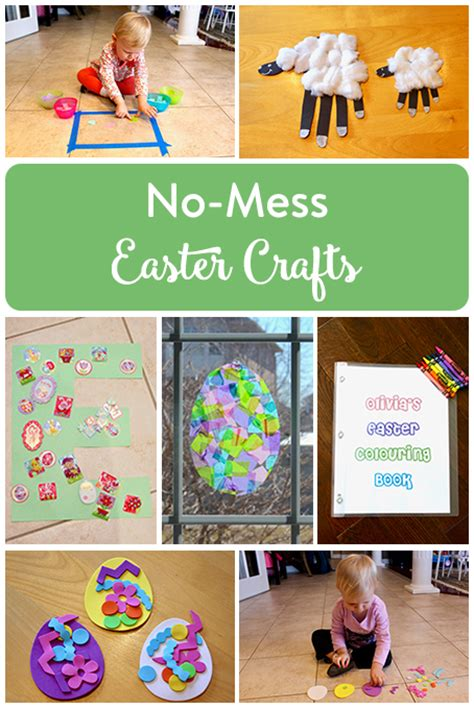 No Mess Easter Crafts For The Inspired Home
