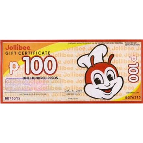 edible gift philippines under 100 500 peso jollibee gift certificate