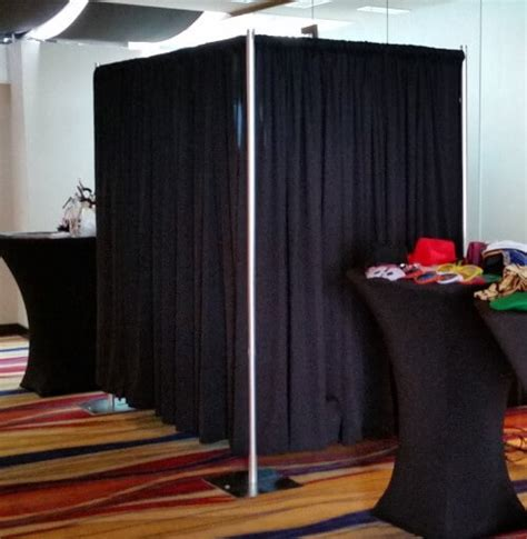 pipe and drape booth pipe and drape photo booth enclosure photobooth