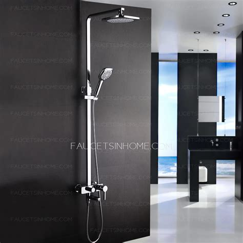 Wall Mounted Bathtub Faucets Modern Designed Outdoor Exposed Shower Faucet System