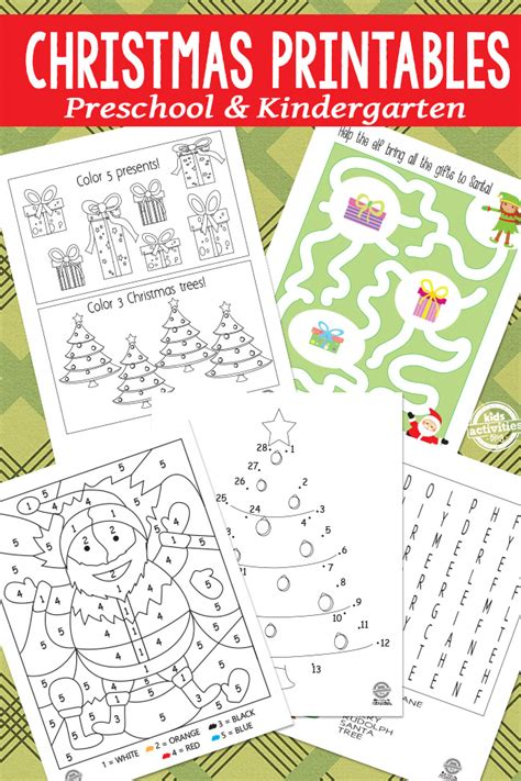printable toddler christmas activities christmas printables for kids