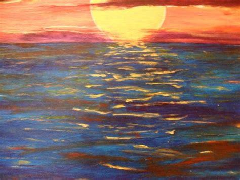 acrylic paint sunset abstract sunset acrylic painting
