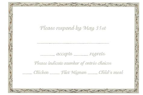 acceptance card template wedding invitation acceptance letter sle images