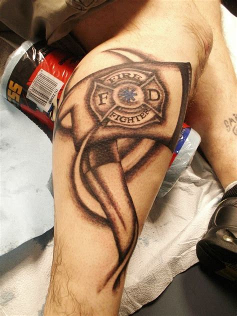 fireman cross tattoo 78 best firefighter emt tattoos images on